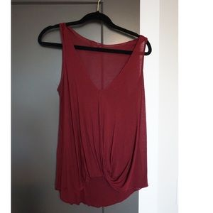 Urban Outfitters Wrap Red Tank